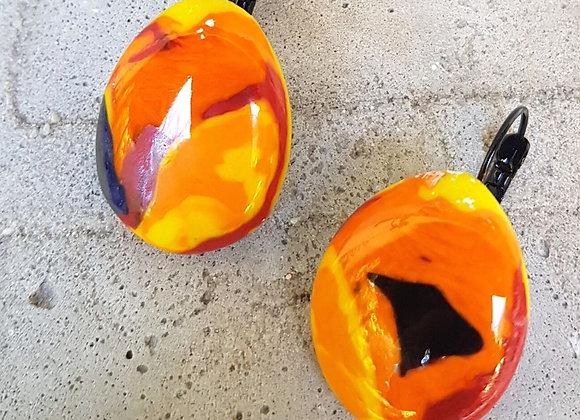 Brincos em Vidro Artístico Coleção Miró