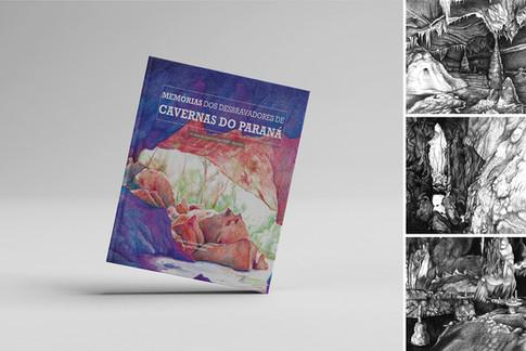 Projeto Gráfico e Produção do Livro Memória dos Desbravadores de Cavernas do Paraná