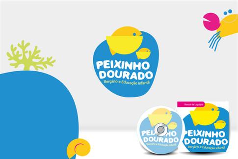 Branding Escola de Educação Infantil Peixinho Dourado