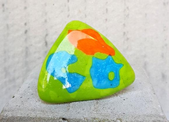 Anel em Vidro Verde da Coleção Miró criado por Désirée Sessegolo