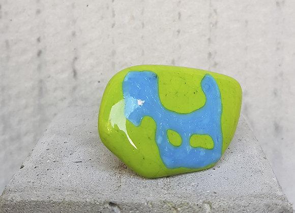 Anel Coleção Miró em Vidros Verde e Turquesa