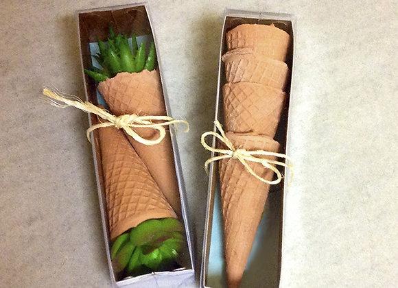 Kit de casquinhas de sorvete em cerâmica artesanal
