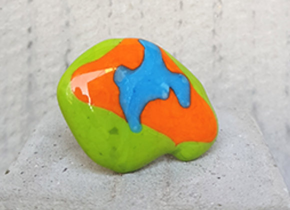 Anel em vidros coloridos da Coleção Miró