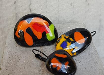 Anel e brincos Coleção Miró
