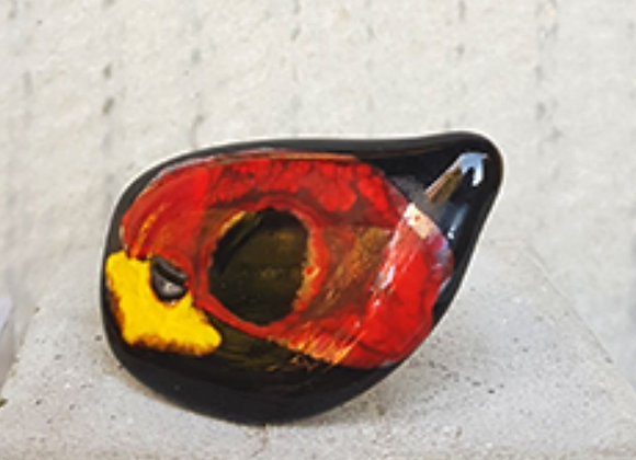 Anel em Vidro com releitura do olho grego da Coleção Miró criado por Désirée Sessegolo