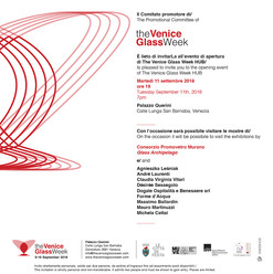 Convite The Venice Glass Week