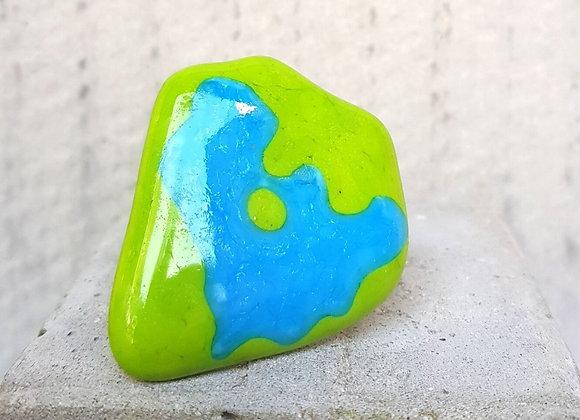 Anel da Coleção Miró nas Cores Verde e Turquesa
