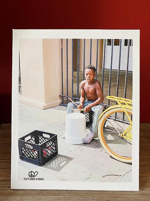 Canvas w/Easel Drummer Boy