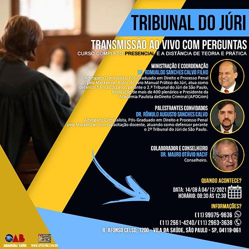 Curso Completo Presencial de Teoria e Aspectos Práticos do Tribunal do Júri