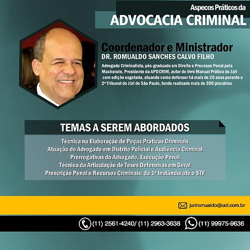 Curso Gravado de Advocacia Criminal