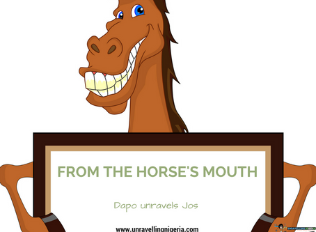 From The Horse's Mouth | Dapo Unravels Jos