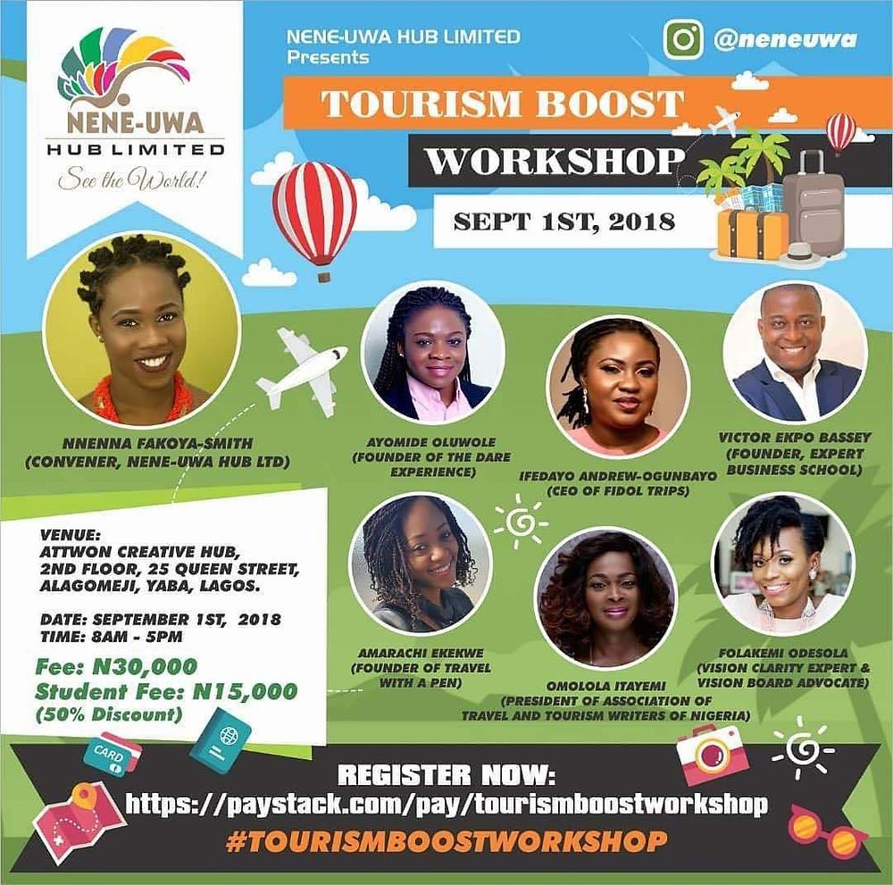 Tourism Boost Workshop Poster with Facilitators