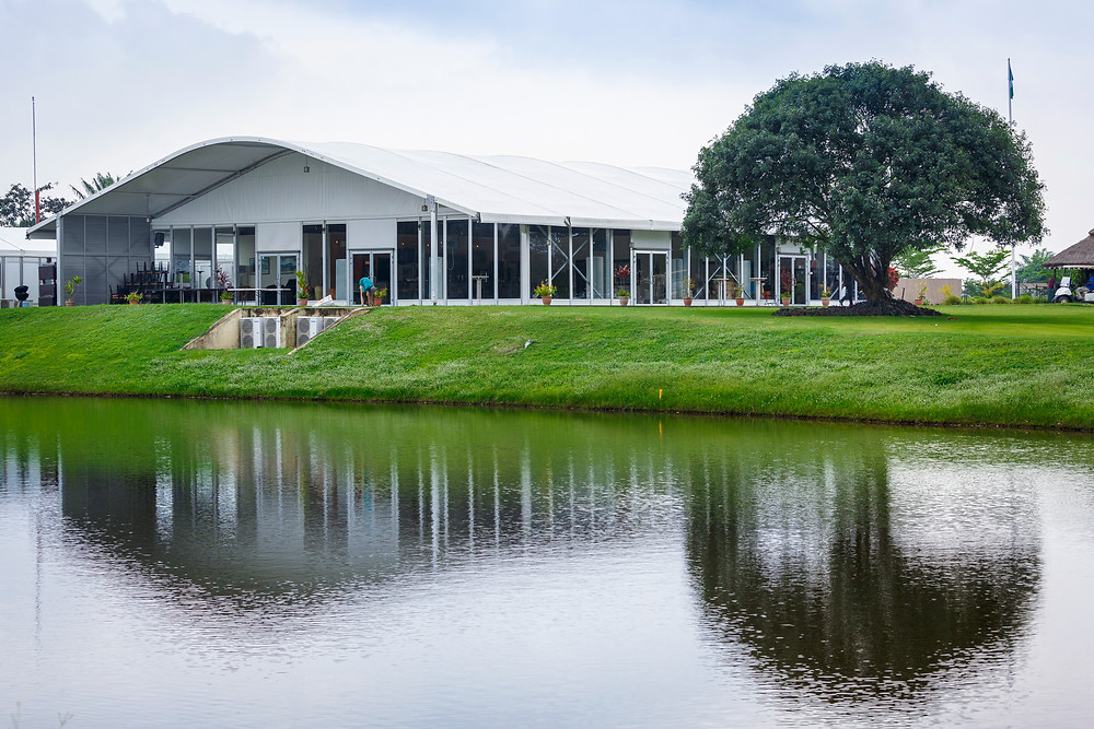 Exterior of the Clubhouse at Lakowe Lakes