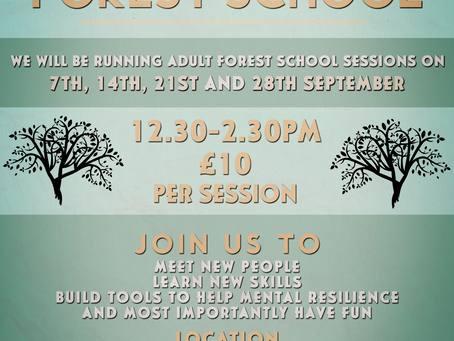 We are now taking bookings for our Adult Forest School sessions.