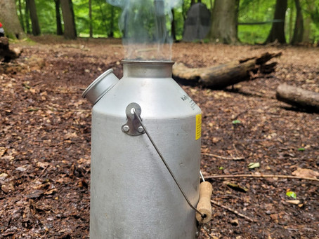 Kelly kettle practise at Forest School training.