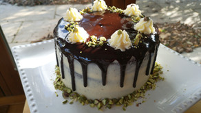 Chocolate Cake with Salted Caramel Buttercream and Chocolate Ganache