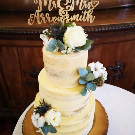Semi- naked Wedding Cake