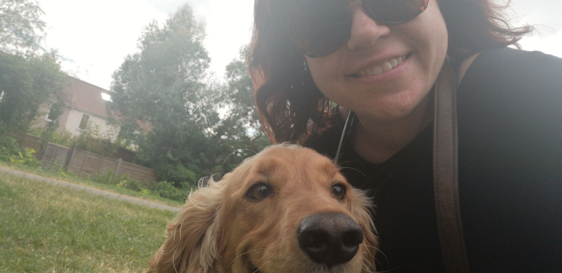 Me and the pooch post run 2