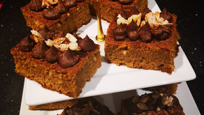 Vegan Spiced Pumpkin and Peanut Butter Cake with Chocolate Ganache