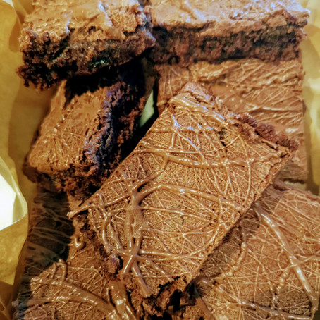 Briony's Boozy Brownies - Spice Rum, Raisin and Orange Chocolate brownies