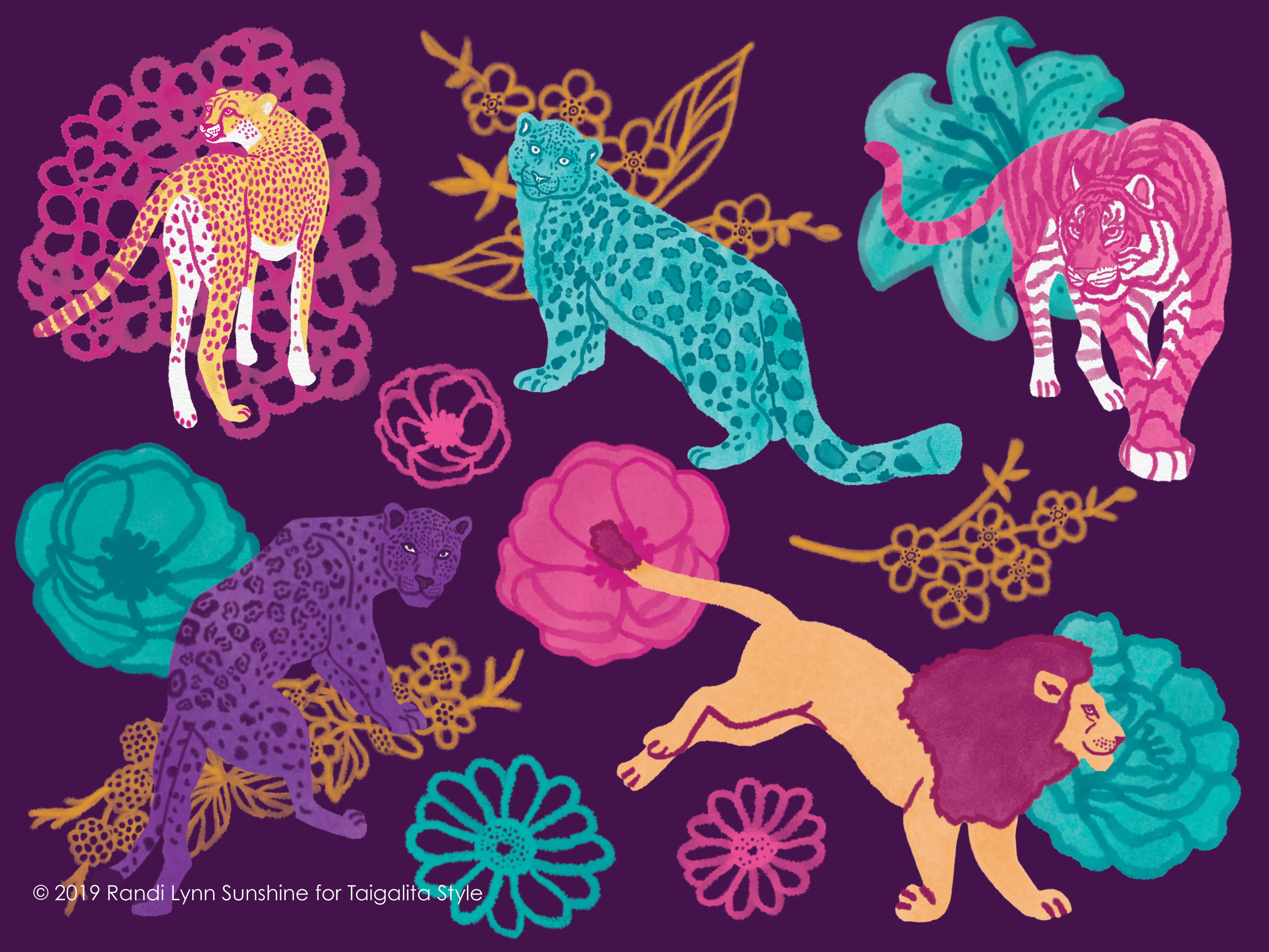 """Taigalita Style """"Crazy 4 Cats"""" Art"""