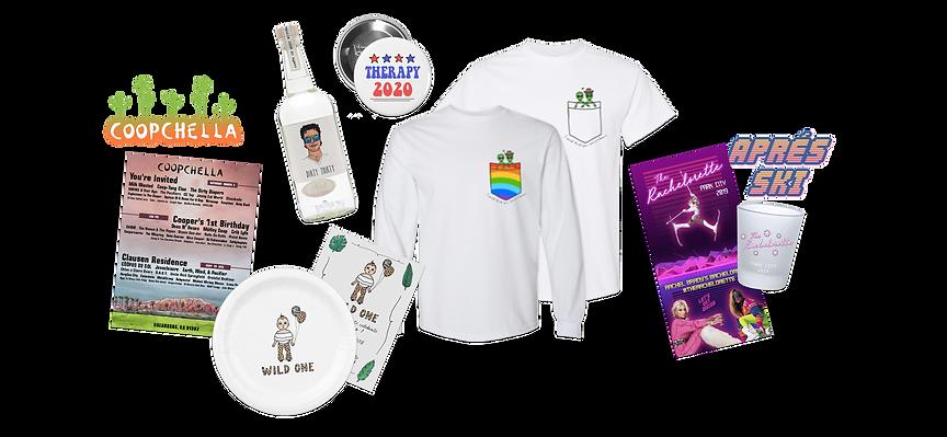 Event graphics merchandise gif sticker giphy birthday bachelorette tshirt design