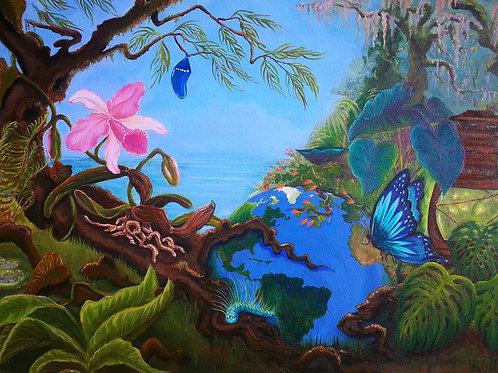 "Metamorphosis, original acrylic on canvas 16"" x 24"""