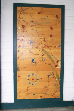 Dons Market map, Santa Ysabel Ca. 92