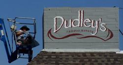 on a lift Dudleys Bakery