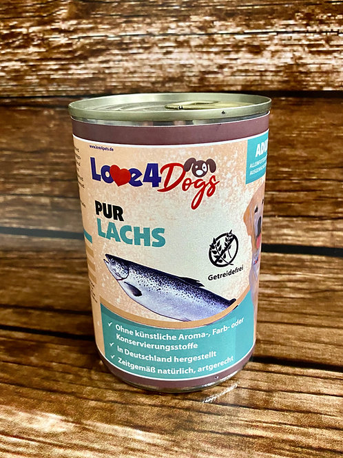 Love4Dog´s PUR Lachs 6x400g
