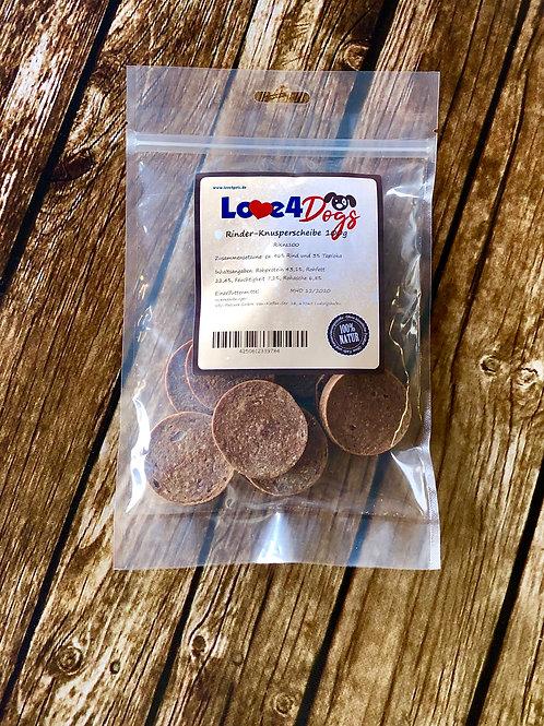 Love4Dogs - Rinder-Knusperscheiben 100g