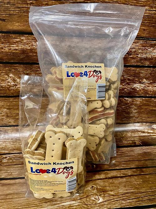 Love4Dogs -Sandwich Knochen Mix 400g und 1kg