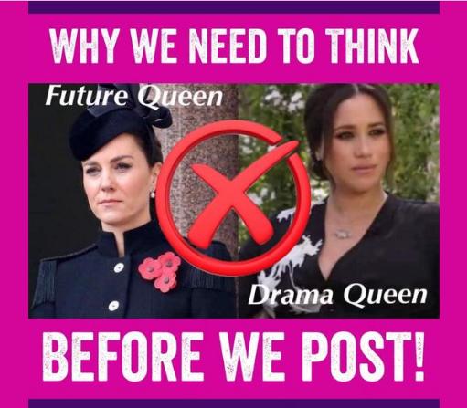 Meghan And Kate Future Queen vs Drama Queen meme