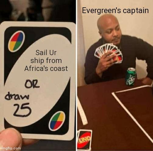 Suez Canal UNO meme