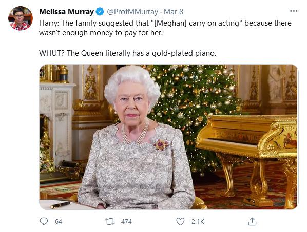 Queen gold piano meme