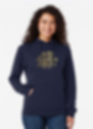 Ladies Keep Laughing Forever Glitz Blue Hoodie