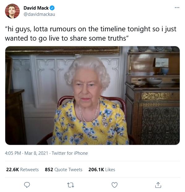 queen on livestream meme