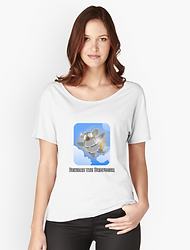 Ladies relaxed fit dropbear t-shirt