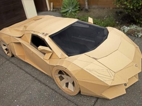 Man Makes Lambo Out Of Cardboard