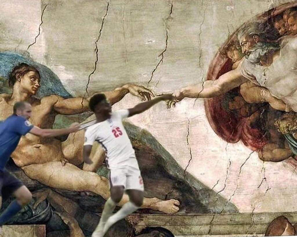 Funny religious meme from euro football final