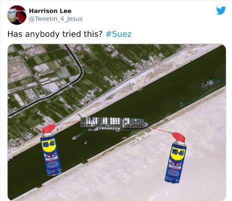 Suez Canal WD40 Meme