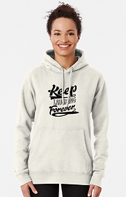 Ladies Keep Laughing Forever Positivity pullover hoodie