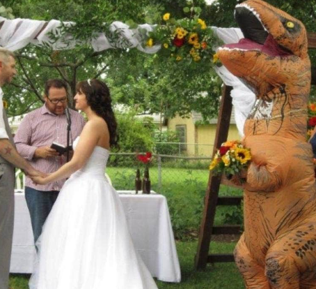 Bridesmaid Dresses As Dinosaur