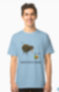 classc t-shirt kiwi and kiwifruit design