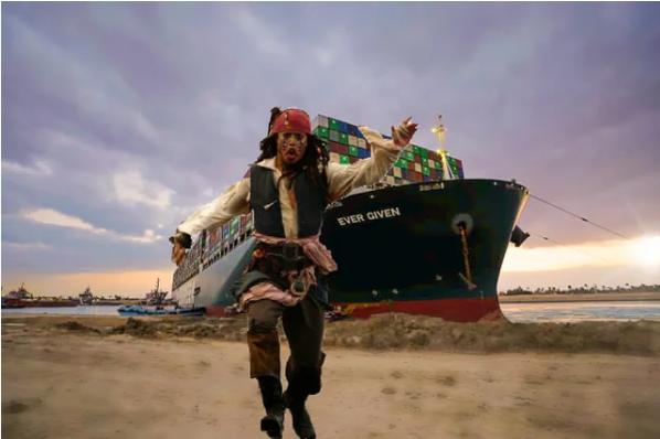 Suez Canal Jack Sparrow Meme