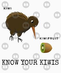 Kiwi and kiwifruit t-shirt design