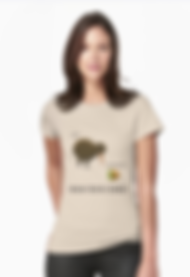 Ladies Fitted T-shirt, kiwi and kiwifruit design