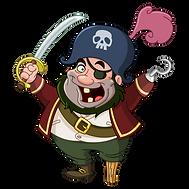Happy Cartoon Pirate
