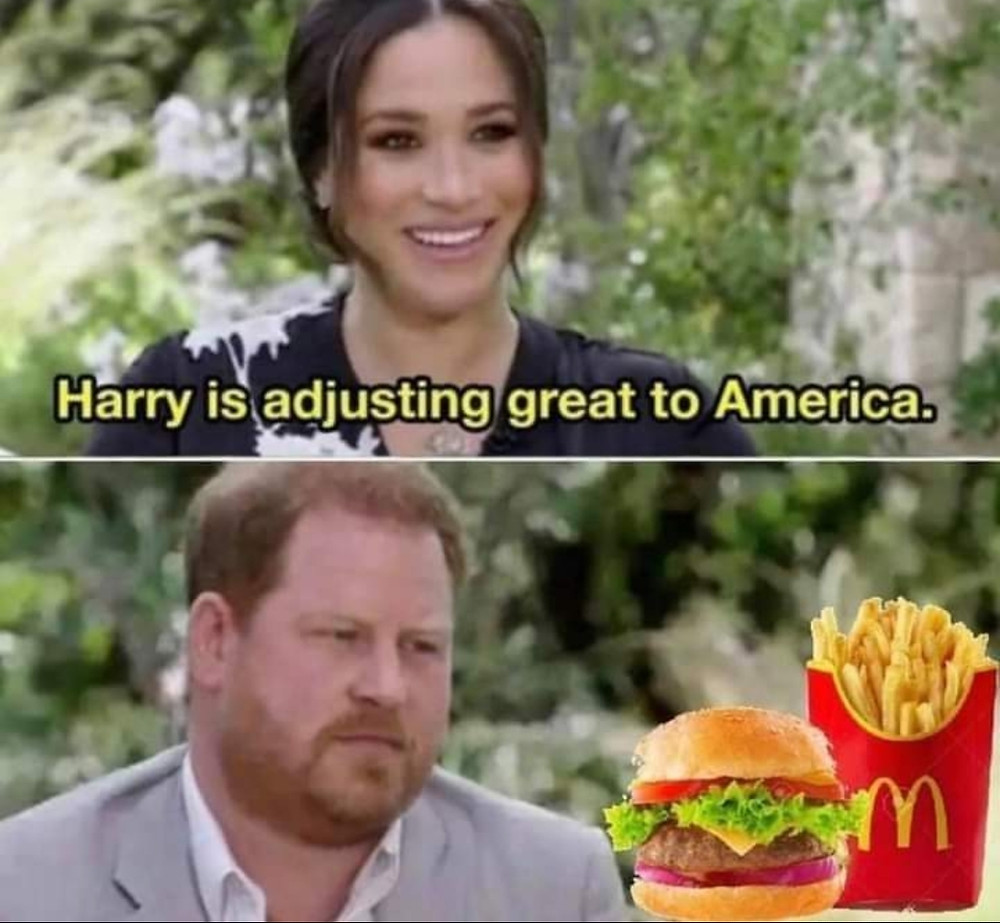 Harry and Meghan McDonalds Meme