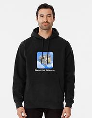 Mens black dropbear hoodie